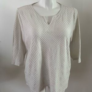 Chico's white midsleeve blouse size:XL gently used